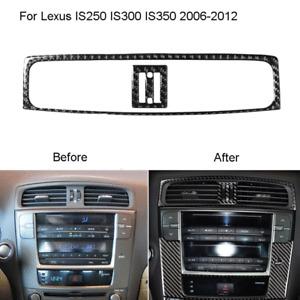 For Lexus IS250 2006-2012 Carbon Fiber Center Air Vent Outlet Panel Cover Trim