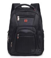 Men's Travel Laptop Backpack Swiss Shoulder Bag Hiking School Bag Rucksack