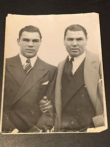 Rare 1933 Max Schmeling, Jack Dempsey Original Type 1 Boxing Photo PSA Ready