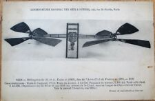Airplane/Helicopter/Helicoptere de H. et A. Dufaux 1911 French Aviation Postcard