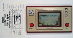 OCTOPUS GAME & WATCH 1981 - incl. manual - GREAT CONDITION / TOP - Nintendo