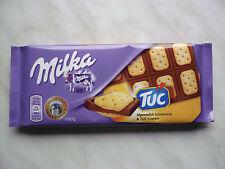 "4 x Milka milk chocolate ""TUC salt cracker"" of 87 gramms net total 348 gramms"