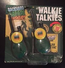 NEW Backyard Safari Walkie Talkies With Belt Clips and a Bonus Patch