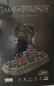 SPE21 HBO GAME OF THRONES 3D PUZZLE DIORAMA WINTERFELL KINGDOM OF THE NORTH STAR