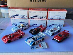 TOMICA FULL SET GROUP C RACERS - PORSCHE, NISSAN ADVAN COCA COLA MINT JAPAN