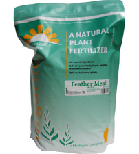 Organically Done Feather Meal All Natural Plant Fertilizer 14-0-0 USDA  5 lbs