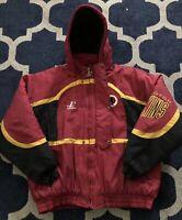 Vintage 90s Washington Redskins Puffer Jacket Parka 80s Fleece Lined Coat NFL XL