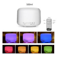 500ML Air Aroma 7 LED Essential Oil Diffuser Ultrasonic Aromatherapy Humidifier