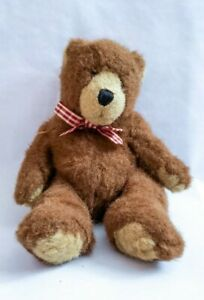 """The Heritage Collection GANZ Chocolate Brown Bear Plush 10"""" Furry Soft Stuffie"""