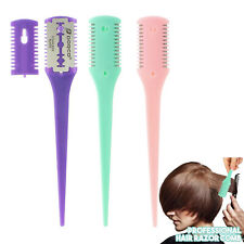 New Razor Comb Built in Free Blades Hair Cutting Thinning Salon Barber 2 in 1