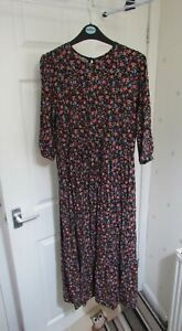 NEW LOOK size 12 ditsy pretty floral midi dress WORN ONCE