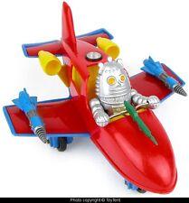 Atomic Jet Plane with robot fighter pilot American Toys plastic rocket OOAK