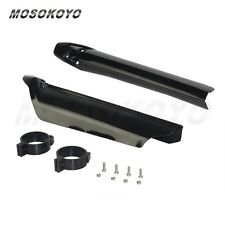 Universal 55mm Black Tube Protector Fork Guards Covers For Dirt Bikes Motorcycle