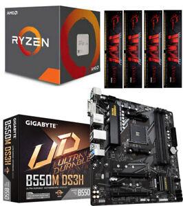 Aufrüstkit Bundle PC 1 AMD Ryzen 7 3700X 8x 4,4 Ghz Turbo Gigabyte B550M-DS3H