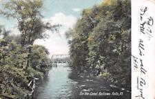 BELLOWS FALLS, VT Vermont   CANAL~Bridge   ROCKINGHAM~Windham Co  1911 Postcard