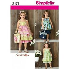 SIMPLICITY SEWING PATTERN CHILD'S DRESS TP PANTS BAG & HAIR ACCESSORY 3-8 2171