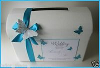 Personalised Butterfly Wedding Card Chest/ Post Box. Any Colour!