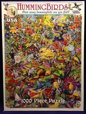 Hummingbirds White Mountain Collage 1000 Piece Jigsaw Puzzle Tropical Flowers