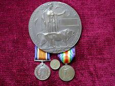 1916 Replica Copy WW1 Casualty Group - Medals & Unamed Memorial  Plaque F/Size