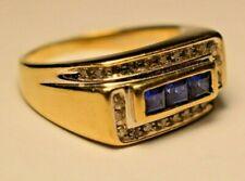Beautiful 10k Gold Size 10 1/2 Men's Diamond Ring