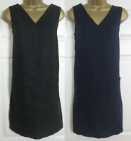 NEW Next Shift Tunic Dress Linen Blend Summer Sun Sleeveless Black Navy 10-22