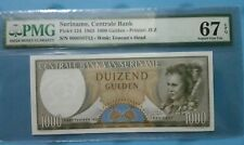 1963 Suriname 100 Gulden PMG67 EPQ SUPERB GEM UNC <P-124>