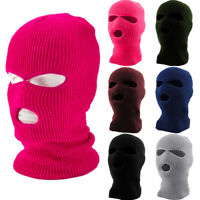 New 3 Hole Warm Ski Mask Balaclava Knit Hat Face Shield Beanie Cap Snow Winter