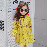 Toddler Baby Girls Kid Long Sleeve Tutu Dress Princess Party Cotton Tops Dresses