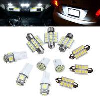 11Pcs/Set White LED Interior Light Bulb Car Kit For Jeep Wrangler JK 2007-2015