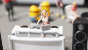 FigureWorkShop 1/64 Diorama Figures 6pcs set DJ Soda White Set