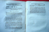 Recueil Décret & Loi  1791 + de 200  Monnaie Militaire Marine La Pérouse Peche 1