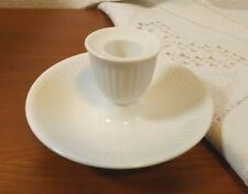 Royal Copenhagen Denmark White Ribbed Candle Holder Goes With White Half Lace