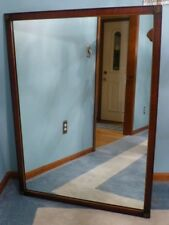 "Vintage Large Solid Wood ""35x47"" Rectangle Framed Wall Mirror $969"