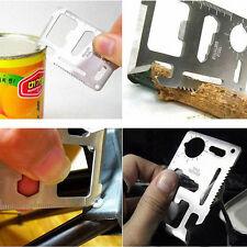10-in-1 Outdoor Survival Camping Wallet Card Pocket Multi Knife Ruler Tools Kit