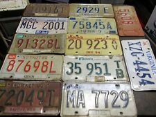 LOT OF 12  LICENSE PLATES  IN,ILL,VIRGINIA