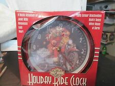 Harley Davidson Holiday Ride Clock Jingle Bells Announces Each Hour Year 2007