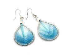 Turquoise Woven Drop Earrings
