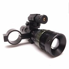 Hunting Airsoft Cree Q5 Torch Flashlight with Tactical Red Rifle Laser Dot Sight