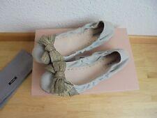 Miu Miu by Prada Leder Ballerinas NP 450€ TOP Flats Schuhe Gr. 39 39,5 40