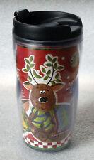 STARBUCKS COFFEE 2001 8 oz REINDEER tumbler Barista holiday