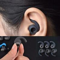 3 Pairs Silicone S/M/L Earbuds Cover With Ear Hook For  Bluetooth Headset