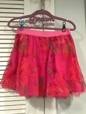NWT GAP KIDS GIRLS SKIRT I WANT CANDY LINE MEDIUM 8  TULLE FLORAL PINK FLOWERS