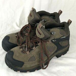 Columbia Mens Hiking Boot Packus Ridge Omni-Tech Black Brown Waterproof Size 7
