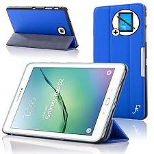 De Cuero Azul Smart Funda Protectora Samsung Galaxy Tab S2 8.0 T710 Pantalla Prot Stylus