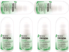 Body Crystal Deodorant Roll on 80ml Alcohol (choose From 4 Fragrances) Botanica