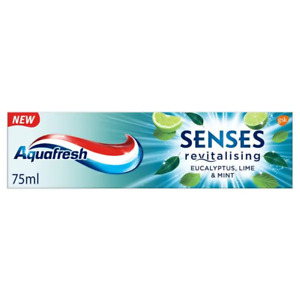 Aquafresh Senses Eucalyptus Lime & Mint Toothpaste 75ml