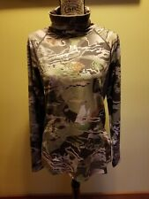 NWT Womens Under Armour Cold Gear Reactor Forest Camo Hunting Shirt Fitted L