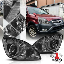 Smoke Tinted Headlight Lamp Clear Turn Signal Reflector for 05-06 Honda CRV CR-V