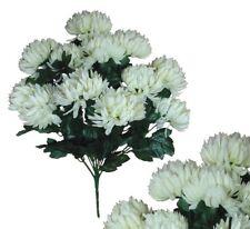 "12-5"" Cream Ball Mums 22"" Bouquet Wedding Bridal Party Home Decor Silk Flower"