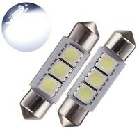 10 X White 36MM 3 LED 5050 SMD Festoon Dome Car Light Interior Lamp Bulb 12V TG